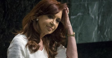 Argentina's President Cristina Fernandez de Kirchner before addressing attendees during the 70th session of the United Nations General Assembly at the U.N. headquarters in New York. (Photo: Carlo Allegri/Reuters/Newscom)