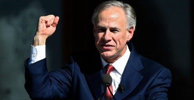 Texas Gov. Greg Abbott isn't changing his mind about defunding Planned Parenthood. (Photo: Larry W. Smith/EPA/Newscom)