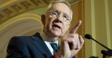 In invoking the nuclear option, Sen. Harry Reid violated a premise on which the Senate has run for hundreds of years, and that is the deliberate protection of minority rights. (Photo: Michael Reynolds/EPA/Newscom)