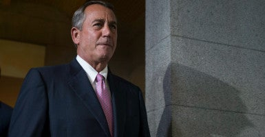 Conservatives are furious over House Speaker John Boehner's budget deal. (Photo: Michael Reynolds/EPA/Newscom)