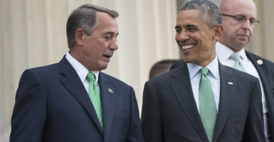 House Speaker John Boehner has negotiated away his greatest legacy: the 2011 Budget Control Act. (Photo: Kevin Dietsch/UPI/Newscom)