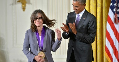 In 2014, Oscar-winning actress Sally Field, who is campaigning for the Houston ordinance, received the 2014 National Medal of the Arts. (Photo: Kevin Dietsch/UPI/Newscom)