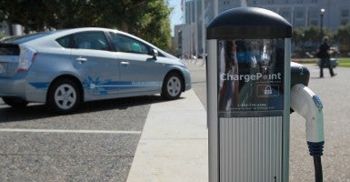 Drivers with electric or hybrid cars – which use less gasoline – would pay the same tax as drivers of regular cars. (Photo: Justin Sullivan/Getty Images)