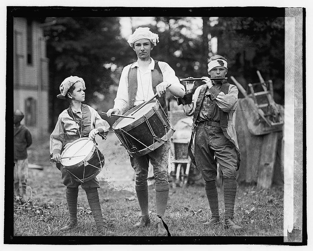 Young boys march in a 4th of July celebration at Takoma Park, 1922. (Photo: The Library of Congress)