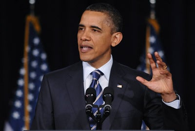 President Obama speaks at GWU on the budget
