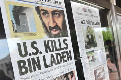 Newspaper headlines mark bin Ladens' death on May 1, 2011