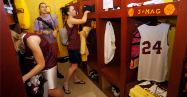 Should transgender students have full access to locker rooms? (Photo: Ed Sacckett/KRT/Newscom)