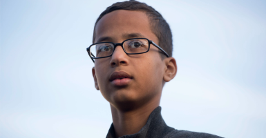 Ahmed Mohamed's family is seeking $15 million for how he was treated when school officials though his clock might be a bomb. (Photo: Michael Reynolds/EPA/Newscom)