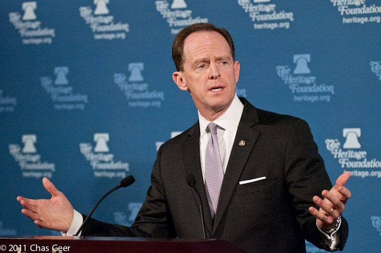 Sen. Pat Toomey (R-PA) speaks at Heritage