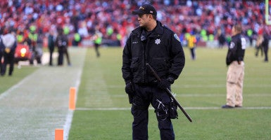 "Law enforcement at football stadiums ""cannot be certain that all threats will be detected and neutralized,"" the FOP's national president, Chuck Canterbury, wrote to NFL Commissioner  Roger Goodell. (Photo: Peter Thoshinsky/ ZumaPress/ Newscom)"