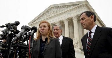 Abigail Fisher, the plaintiff in Fisher v. Texas, says she is a victim of racial discrimination regarding college admission. (Photo: Kevin Lamarque/Reuters/Newscom)