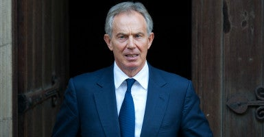 "Asked why he dares speak about Islamist terrorism and extremism, given that the Obama administration insists that such mentions will alienate all adherents of the religion, Blair simply smiled and said, ""Because that's what it is."" (Photo: I-Images/ZUMA Press/Newscom)"