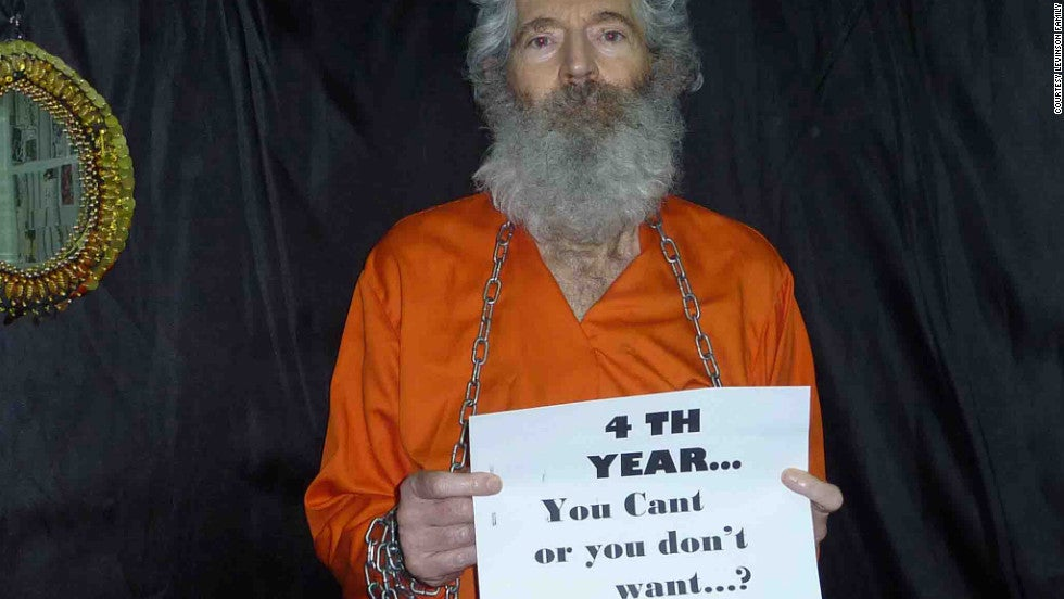 This picture of Robert Levinson was sent to his family four years after his disappearance. (Photo: CNN.com/the Levinson family)