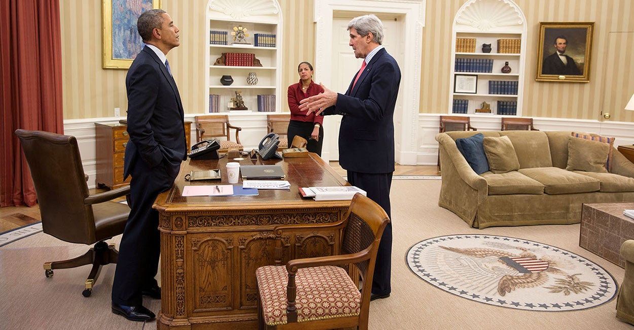 Kerry y Obama