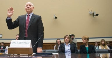 IRS Commissioner John Koskinen at a House Oversight and Government Reform Committee hearing on the IRS targeting scandal. (Photo: Kevin Dietsch/UPI/Newscom)