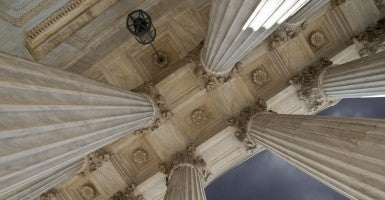 US Supreme Court columns (Photo: Getty Images)