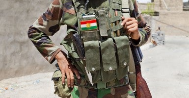 The equipment of a young Kurdish peshmerga is seen in Jalawla, Iraq. The peshmerga, roughly translated as those who fight, is engaged in fighting ISIS all along the borders of the province of Iraqi-Kurdistan. They are currently facing ISIS insurgents armed with superior armament taken from the Iraqi Army after they retreated on several fronts. (Photo: Matt Cetti-Roberts/LNP)