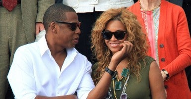 Jay-Z and Beyonce Knowles had their daughter, Blue Ivy, after they married. (Photo: Newscom)