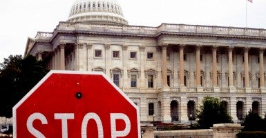 A stop sign on northeast side of the U.S. Capitol. (Photo: Victoria Pickering/Creative Commons)