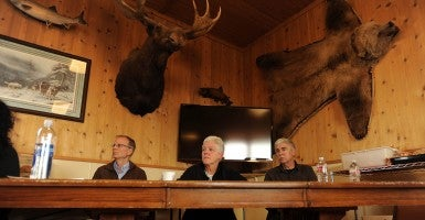 An August 2013 photo of EPA administrator Gena McCarthy, center, at a meeting in the Iliamna Lake Lodge in Iliamna, Alaska, focused on the proposed Pebble Mine during. (Photo: Bill Roth/Anchorage Daily News/MCT)