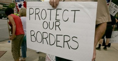 Protestors in Texas. (Photo: Marjorie Kamys Cotera/Polaris/Newscom)