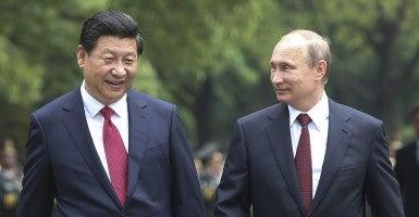 Chinese President Xi Jinping and Russian President Vladimir Putin. (Photo: Xinhua/Polaris/Newscom)