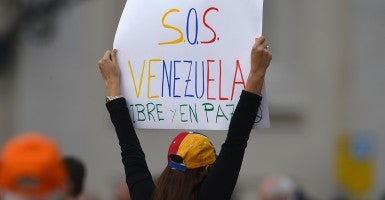 Oppressed Venezuelan opposition leaders hope U.S. pressure will bring democratic change to their nation. (Photo: Vincenzo Pinto/Newscom)