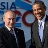 Russian President Vladimir Putin and President Obama at the