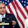 Democratic Leader Nancy Pelosi, D-Calif., listens to Guatemalan President Otto Perez Molina during a meeting on the ong