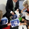 Members of the Heritage Action team distribute the 'opportunity' agenda to all House and Senate offices. (