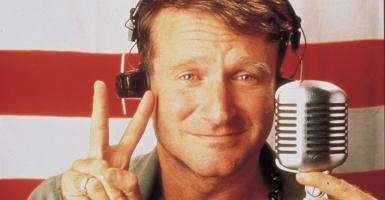 Robin Williams in the 1987 film 'Good Morning Vietnam.' (Photo: Newscom)