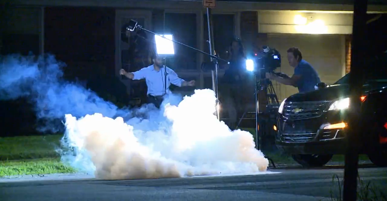 Shooting Raw Footage: Raw Footage: Tear Gas Blasted At TV Reporters In Ferguson