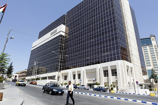 Arab Bank's main offices in the Jordanian capital, Amman. (Photo: Khalil Mazraawi/Newscom)