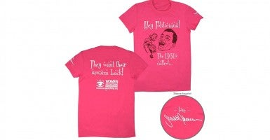 Photo: Planned Parenthood 'Special Celebrity Signature Edition Women Are Watching' T-Shirt designed by Scarlett Johansson.