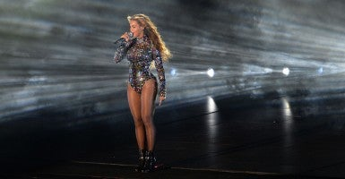 'So much gratitude': Beyonce performs at the MTV Video Music Awards. (Photo: Robyn Beck/Newscom)