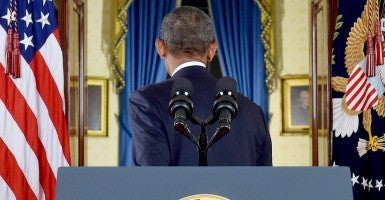 After President Obama's speech last night, Americans took to Twitter and Facebook to voice their reactions. (Photo: Polaris/Newscom)
