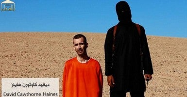 A new video released by ISIS claims the beheading of British aid worker David Haines. (Photo: Newscom)