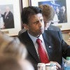 Louisiana Gov. Bobby Jindal speaking at The Heritage Foundation to a group of reporters about his new energy pla