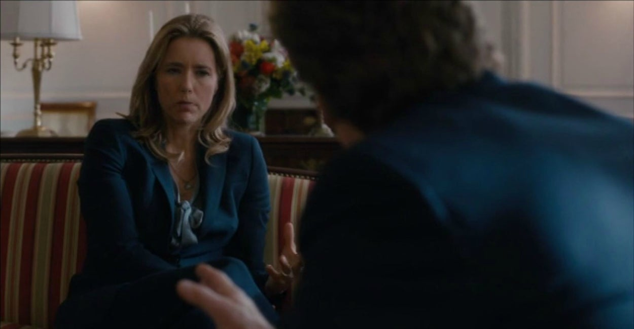 "Téa Leoni, who stars as Secretary of State Elizabeth McCord, in the pilot episode of ""Madam Secretary."" (Photo: CBS)"