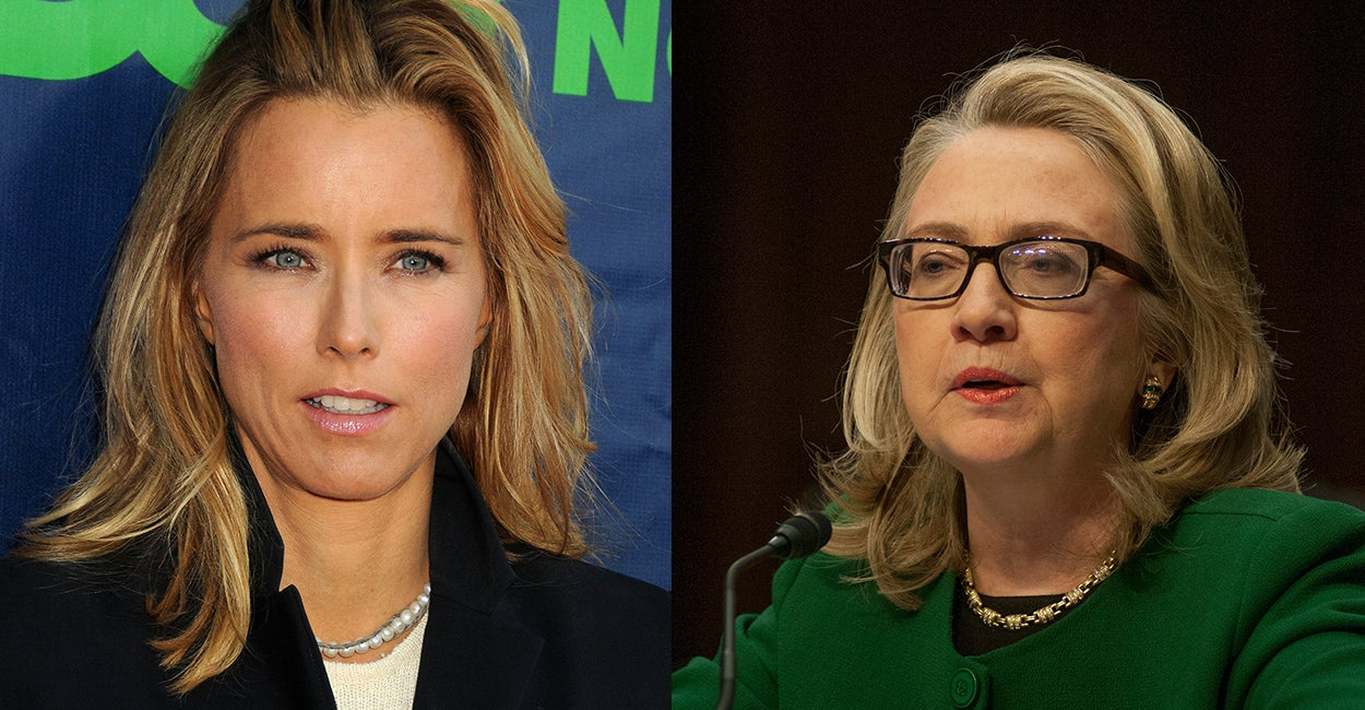 The secretary of state played on TV by Téa Leoni, left, came to life based on a televised appearance by   Hillary Clinton.(Photos: Newscom)
