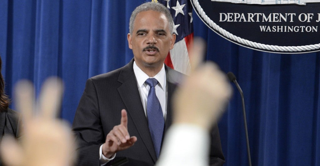 US Attorney General Eric Holder (Photo: Newscom)