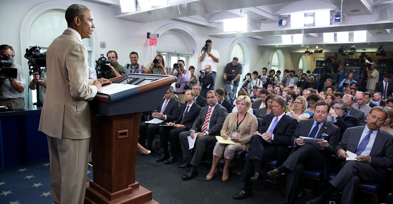 White House Briefing Room Reporters