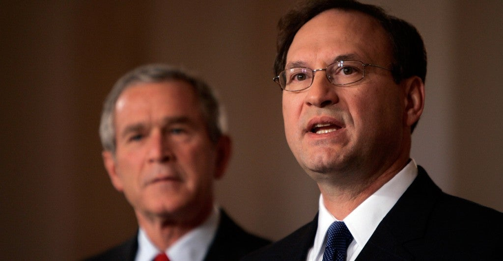 Samuel Alito was nominated by President Bush to serve on the U.S. Supreme Court on Oct. 31, 2005. (Photo: Chuck Kennedy/KRT/Newscom)