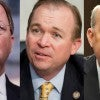 They seek the chair, from left: Bill Flores, Mick Mulvaney and Louie Gohmert. (Photos:  Newscom)