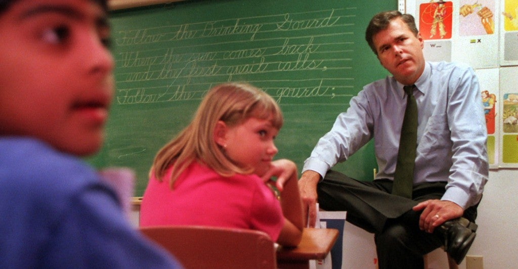 Jeb Bush in New Port Richey, Fla., in 1998. (Photo: St. Petersburg Times/Tampa Bay Times/ZUMAPRESS.com/Newscom)
