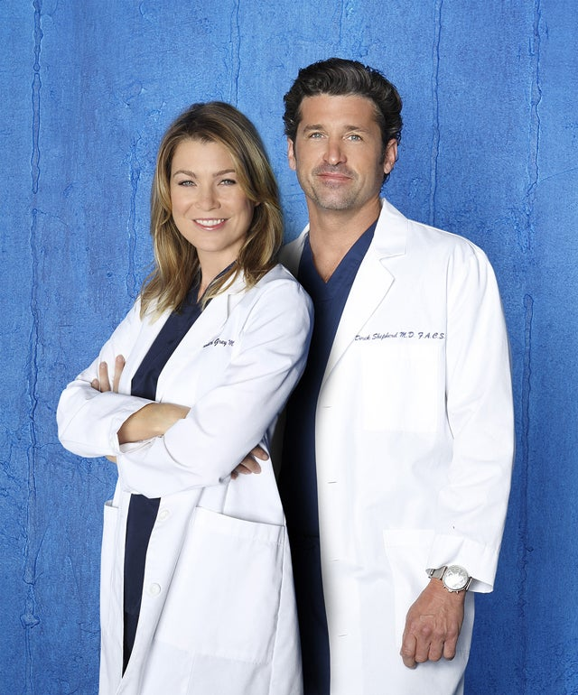 "ABC's ""Grey's Anatomy"" stars Ellen Pompeo as Dr. Meredith Grey and Patrick Dempsey as Dr. Derek Shepherd. (Photo: Bob D'Amico/ABC)"