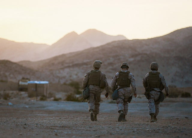Marines with Headquarters Battalion, 1st Marine Division (Photo:  Sgt. Timothy Lenzo/Released)
