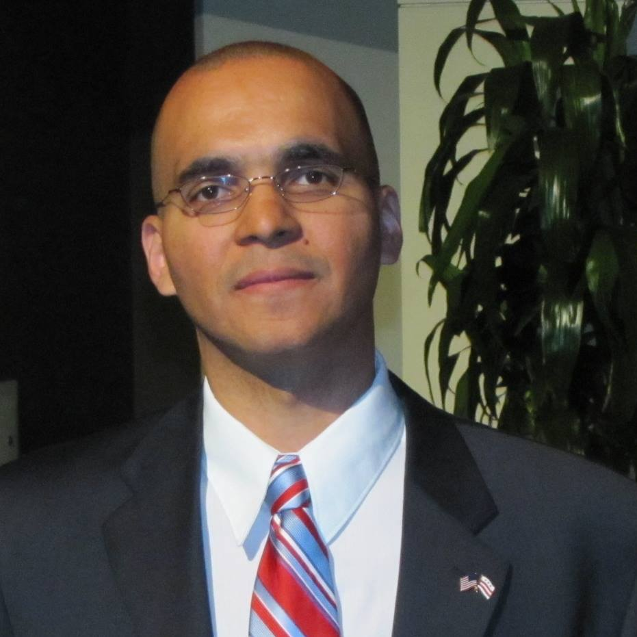 Franklin Garcia, the U.S. Rep for the District of Columbia, spoke at the Network4Progress watch party. (Photo: Franklin Garcia Facebook Page)