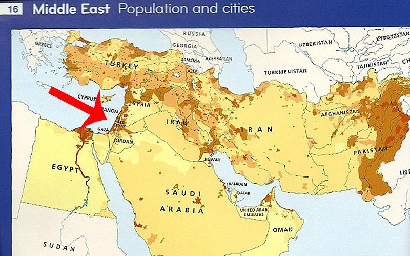 HarperCollins Backtracks After Excluding Israel From Map - Israel on the map
