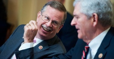 Florida Republican Reps. Richard Nugent, left, and Daniel Webster, were removed from the House Rules Committee after voting against Speaker John Boehner. (Photo: Tom Williams/CQ Roll Call/Newscom)